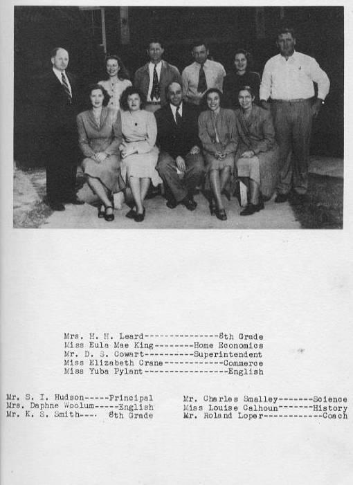 Purvis School Administration 1948
